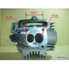 Головка цилиндра в сборе с распредвалом 125cc 52,4 153FMI, 154FMI под алюминиевый цилиндр