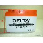 """Аккумулятор 12V  2,5Ah (CT12026) """"DELTA"""" (AGM VRLA) 115х49х85 DIO"""