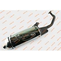 Глушитель 4T 125-150 cc цельный хром